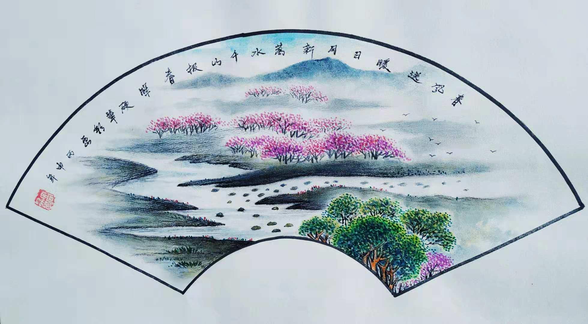 硬笔彩画第一人高升学绘画作品鉴赏