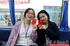 郴州技师学院学子撸袖献血奉献爱心